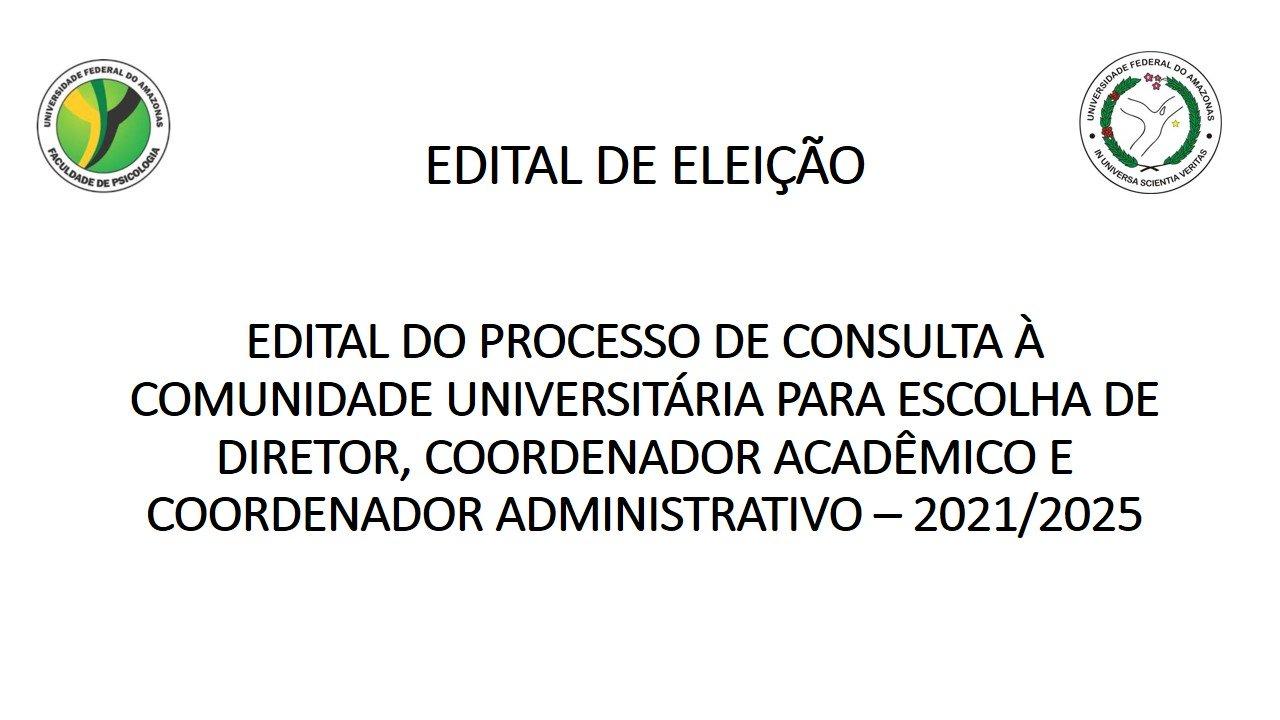 Processo de consulta à comunidade universitária