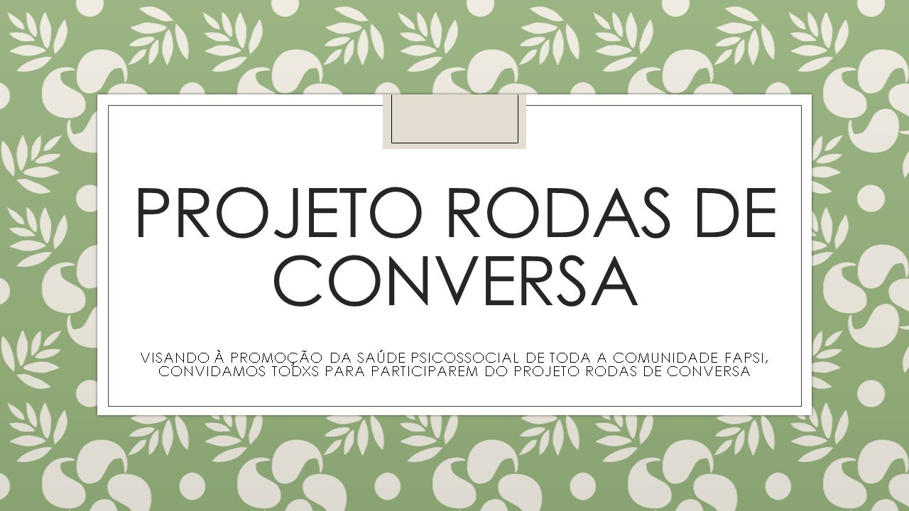 PROJETO RODAS DE CONVERSA
